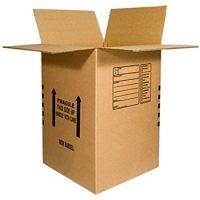 Cardboard box, size: 5 cu.ft.